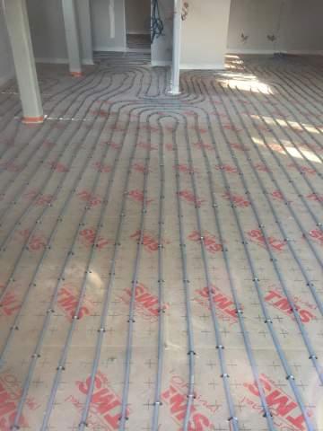 Installation de plancher chauffant dans la région de Toulouse